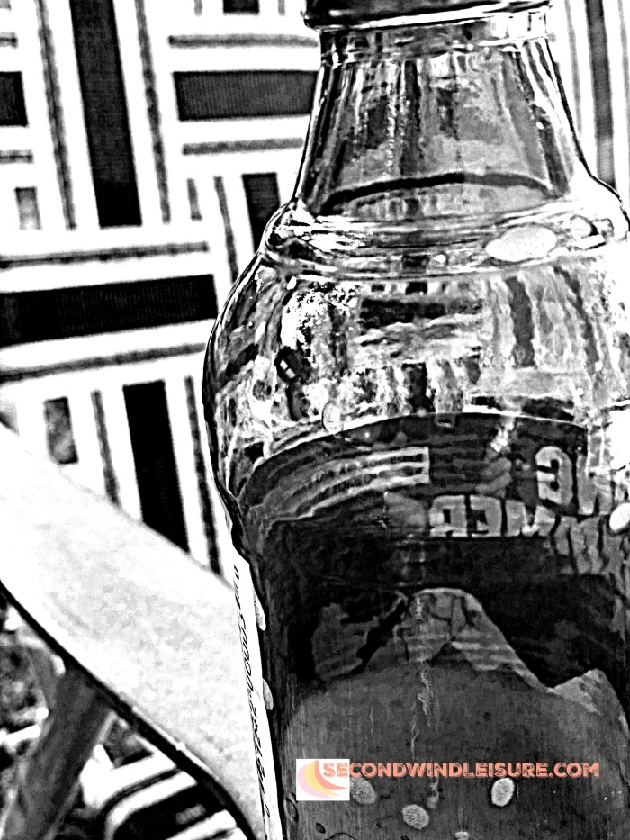 beer and chair in BW abstract