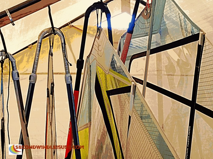 Hanging Abstract Windsurf Sails