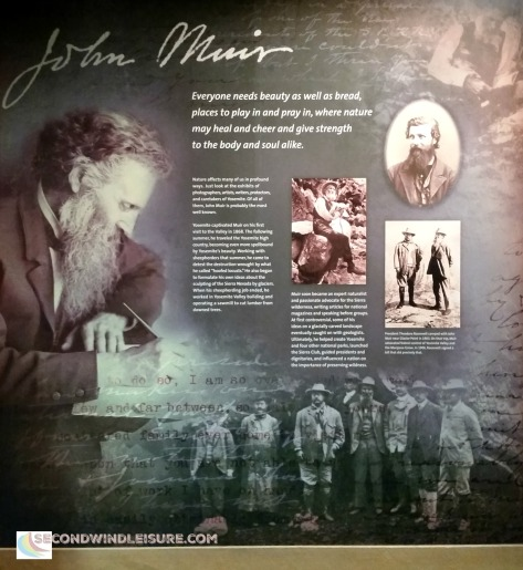 John Muir Plaque in Yosemite Visitors Center