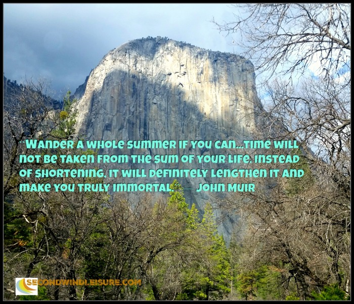 Wander a whole summer...quote by John Muir